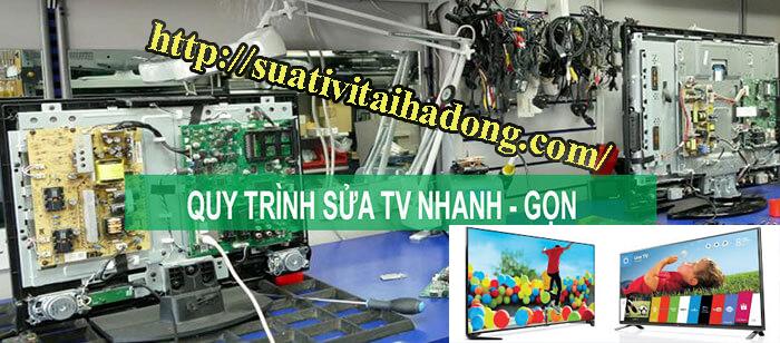 quy trình sửa tivi tại hà đông