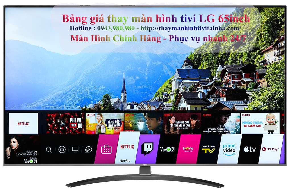 giá thay màn hình tivi lg 65inch tại nhà
