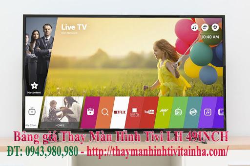 giá thay màn hình tivi lg 49inch tại nhà