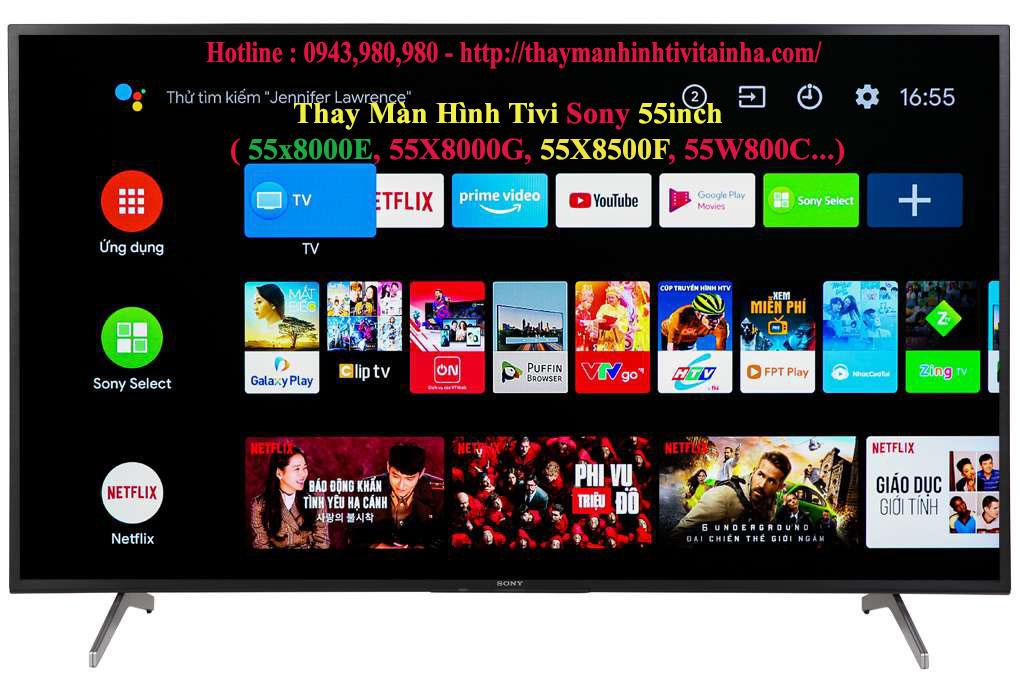 giá thay màn hình tivi sony 55inch tại nhà